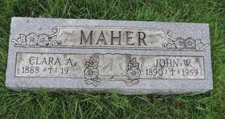 MAHER, JOHN W - Franklin County, Ohio | JOHN W MAHER - Ohio Gravestone Photos