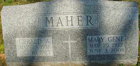 MAHER, MARY GENE - Franklin County, Ohio | MARY GENE MAHER - Ohio Gravestone Photos
