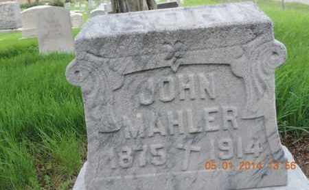 MAHLER, JOHN - Franklin County, Ohio | JOHN MAHLER - Ohio Gravestone Photos