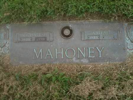 MAHONEY, ANITA J - Franklin County, Ohio | ANITA J MAHONEY - Ohio Gravestone Photos