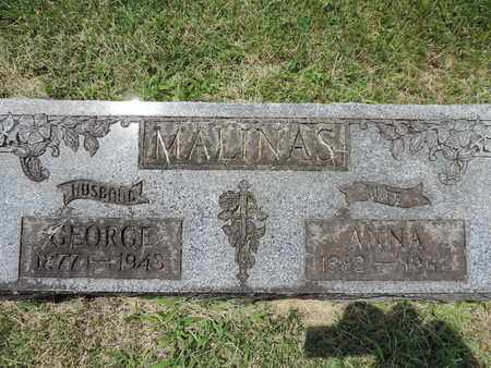 MALINAS, GEORGE - Franklin County, Ohio | GEORGE MALINAS - Ohio Gravestone Photos