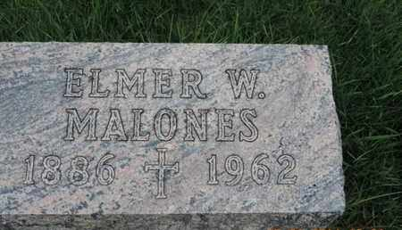MALONES, ELMER W - Franklin County, Ohio | ELMER W MALONES - Ohio Gravestone Photos