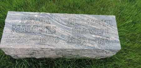 MALONES, ELIZABETH - Franklin County, Ohio | ELIZABETH MALONES - Ohio Gravestone Photos