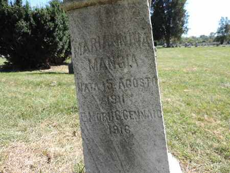 MANGIA, MARIA NINA - Franklin County, Ohio | MARIA NINA MANGIA - Ohio Gravestone Photos
