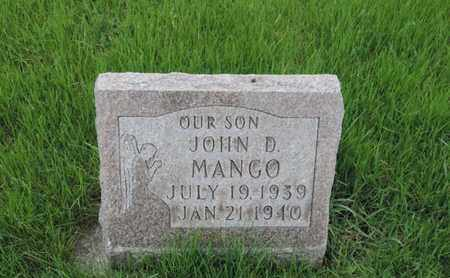 MANGO, JOHN D - Franklin County, Ohio | JOHN D MANGO - Ohio Gravestone Photos