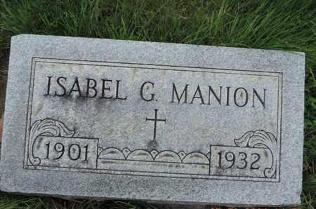 MANION, ISABEL G. - Franklin County, Ohio | ISABEL G. MANION - Ohio Gravestone Photos