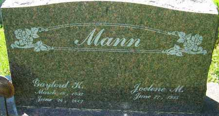 MANN, GAYLORD KEITH - Franklin County, Ohio | GAYLORD KEITH MANN - Ohio Gravestone Photos