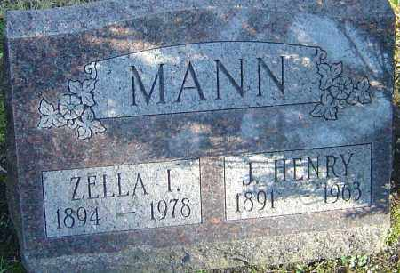 MANN, ZELDA IRENE - Franklin County, Ohio | ZELDA IRENE MANN - Ohio Gravestone Photos