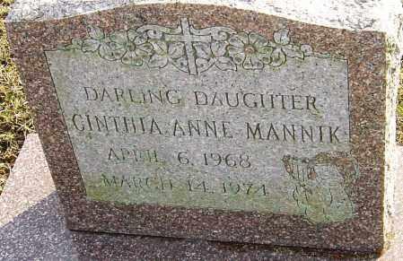 MANNIK, CINTHIA ANNE - Franklin County, Ohio | CINTHIA ANNE MANNIK - Ohio Gravestone Photos