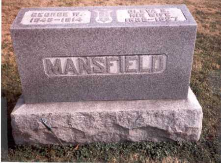 MANSFIELD, GEORGE W. - Franklin County, Ohio | GEORGE W. MANSFIELD - Ohio Gravestone Photos