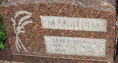 MARKHAM, CLARA - Franklin County, Ohio | CLARA MARKHAM - Ohio Gravestone Photos
