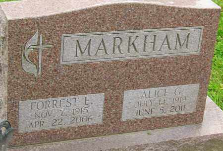 MARKHAM, FORREST - Franklin County, Ohio | FORREST MARKHAM - Ohio Gravestone Photos