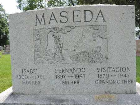 MASEDA, VISITACION - Franklin County, Ohio | VISITACION MASEDA - Ohio Gravestone Photos