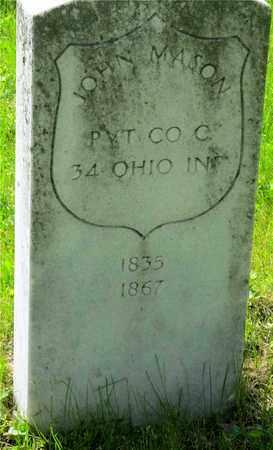 MASON, JOHN - Franklin County, Ohio   JOHN MASON - Ohio Gravestone Photos