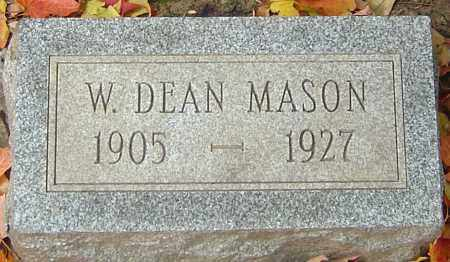 MASON, WILLIAM DEAN - Franklin County, Ohio | WILLIAM DEAN MASON - Ohio Gravestone Photos