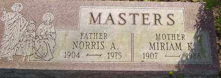 MASTERS, NORRIS - Franklin County, Ohio | NORRIS MASTERS - Ohio Gravestone Photos