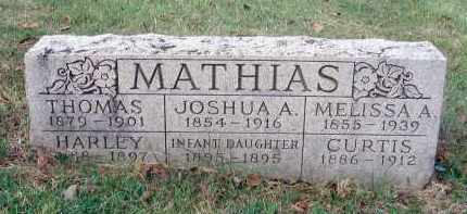 MATHIAS, INFANT DAUGHTER - Franklin County, Ohio | INFANT DAUGHTER MATHIAS - Ohio Gravestone Photos