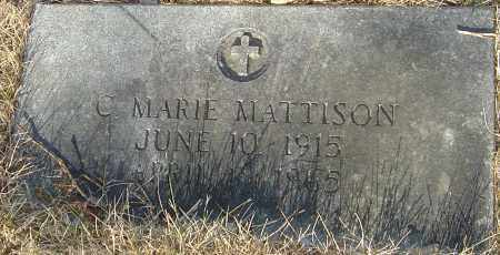MATTISON, C MARIE - Franklin County, Ohio | C MARIE MATTISON - Ohio Gravestone Photos