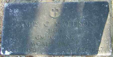 MATTISON, JAMES C - Franklin County, Ohio | JAMES C MATTISON - Ohio Gravestone Photos