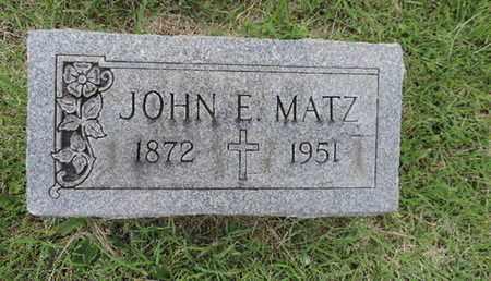 MATZ, JOHN E - Franklin County, Ohio | JOHN E MATZ - Ohio Gravestone Photos