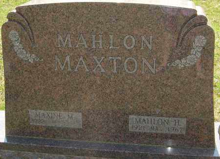 MAXTON, MAHLON - Franklin County, Ohio | MAHLON MAXTON - Ohio Gravestone Photos