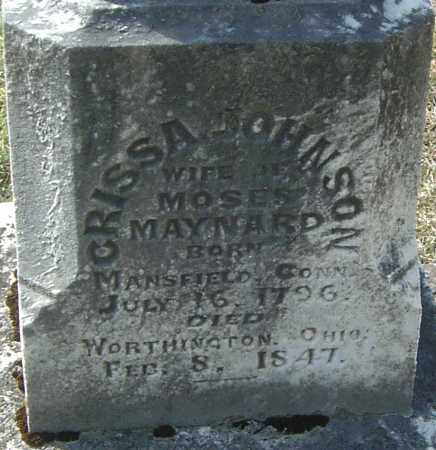 JOHNSON MAYNARD, CRISSA - Franklin County, Ohio | CRISSA JOHNSON MAYNARD - Ohio Gravestone Photos