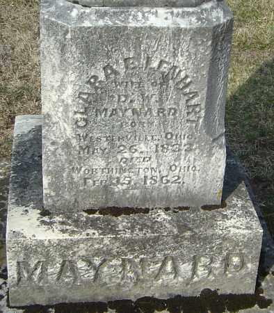 LENHART MAYNARD, CLARA E - Franklin County, Ohio | CLARA E LENHART MAYNARD - Ohio Gravestone Photos