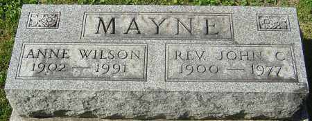 MAYNE, JOHN CHAPMAN - Franklin County, Ohio | JOHN CHAPMAN MAYNE - Ohio Gravestone Photos