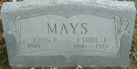 MAYS, JOHN F - Franklin County, Ohio | JOHN F MAYS - Ohio Gravestone Photos