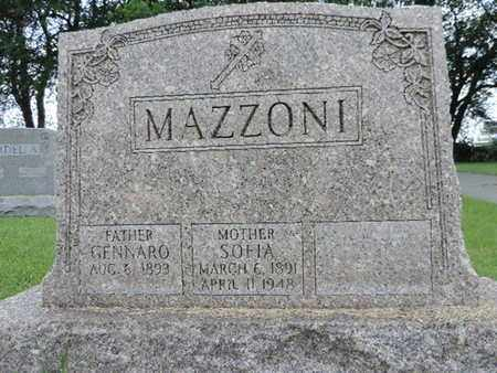 MAZZONI, SOFIA - Franklin County, Ohio | SOFIA MAZZONI - Ohio Gravestone Photos