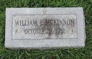 MC KINNON, WILLIAM E - Franklin County, Ohio | WILLIAM E MC KINNON - Ohio Gravestone Photos