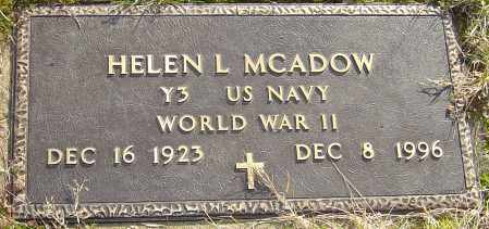 MCADOW, HELEN L - Franklin County, Ohio | HELEN L MCADOW - Ohio Gravestone Photos