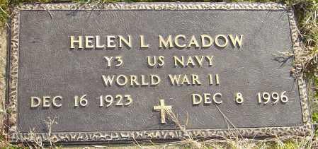 COILE MCADOW, HELEN L - Franklin County, Ohio | HELEN L COILE MCADOW - Ohio Gravestone Photos
