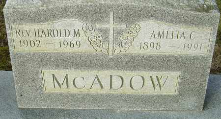 MCADOW, HAROLD M - Franklin County, Ohio | HAROLD M MCADOW - Ohio Gravestone Photos
