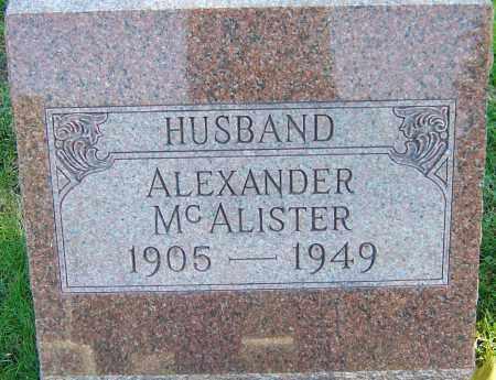MCALISTER, ALEXANDER - Franklin County, Ohio | ALEXANDER MCALISTER - Ohio Gravestone Photos