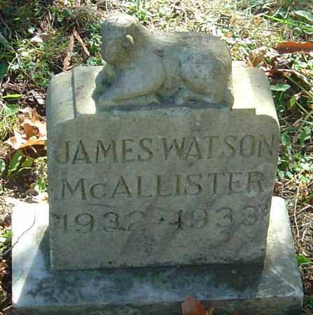 MCALLISTER, JAMES WATSON - Franklin County, Ohio | JAMES WATSON MCALLISTER - Ohio Gravestone Photos