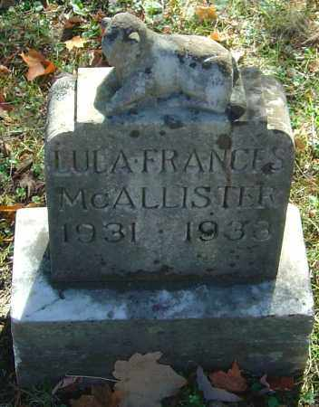 MCALLISTER, LULA FRANCES - Franklin County, Ohio | LULA FRANCES MCALLISTER - Ohio Gravestone Photos
