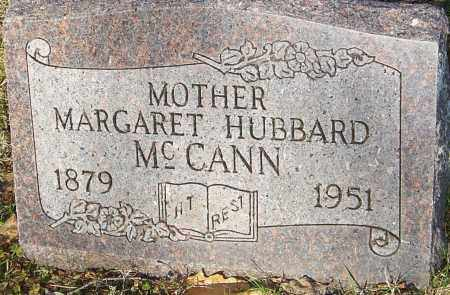 HUBBARD MCCANN, MARGARET - Franklin County, Ohio | MARGARET HUBBARD MCCANN - Ohio Gravestone Photos