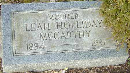HOLLIDAY MCCARTHY, LEAH - Franklin County, Ohio | LEAH HOLLIDAY MCCARTHY - Ohio Gravestone Photos
