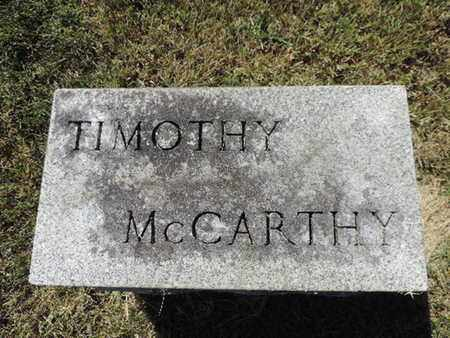 MCCARTHY, TIMOTHY - Franklin County, Ohio | TIMOTHY MCCARTHY - Ohio Gravestone Photos
