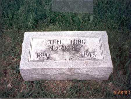 LONG MCCARTNEY, ETHEL - Franklin County, Ohio | ETHEL LONG MCCARTNEY - Ohio Gravestone Photos