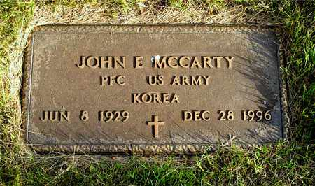 MCCARTY, JOHN E. - Franklin County, Ohio | JOHN E. MCCARTY - Ohio Gravestone Photos