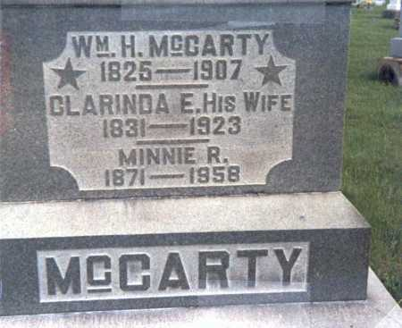RAREY MCCARTY, CLARINDA E. - Franklin County, Ohio | CLARINDA E. RAREY MCCARTY - Ohio Gravestone Photos