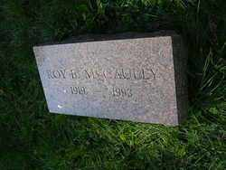MCCAULEY, ROY - Franklin County, Ohio | ROY MCCAULEY - Ohio Gravestone Photos