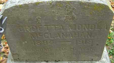 MCCLANAHAN, ORDETTA MONOLA - Franklin County, Ohio | ORDETTA MONOLA MCCLANAHAN - Ohio Gravestone Photos