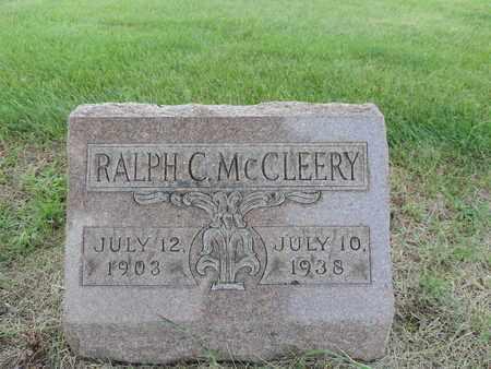 MCCLEERY, RALPH C. - Franklin County, Ohio | RALPH C. MCCLEERY - Ohio Gravestone Photos