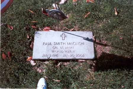 MCCLISH, PAUL SMITH - Franklin County, Ohio | PAUL SMITH MCCLISH - Ohio Gravestone Photos