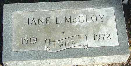 MCCLOY, JANE L - Franklin County, Ohio | JANE L MCCLOY - Ohio Gravestone Photos
