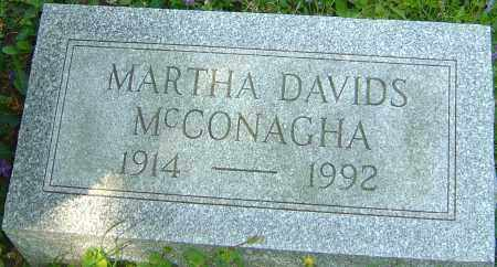 DAVIDS MCCONAGHA, MARTHA - Franklin County, Ohio | MARTHA DAVIDS MCCONAGHA - Ohio Gravestone Photos