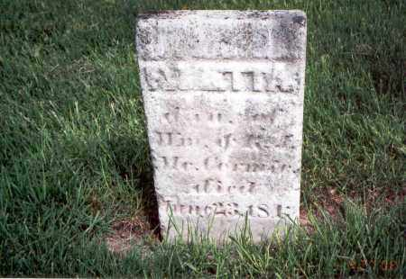 MCCORMICK, EMARETTA - Franklin County, Ohio | EMARETTA MCCORMICK - Ohio Gravestone Photos